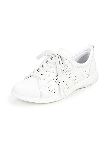 Avena Damen Leder-Leicht-Sneaker Weiß Gr. 37