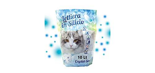 Cura Farma Lettiera per Gatto – 10 Lt – Lettiera per Gatti Antibatterica in Silicio – Granuli in Gel Anti-Odori di Alta Assorbenza – Originale