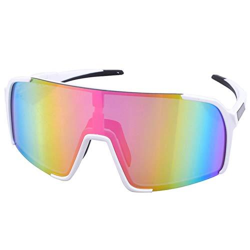 GY-Lmap Gafas de Sol Deportivas polarizadas, Gafas de Ciclismo para Mujer para Mujer, béisbol Que Corre Pesca Gafas de Sol de conducción de Golf,Amarillo