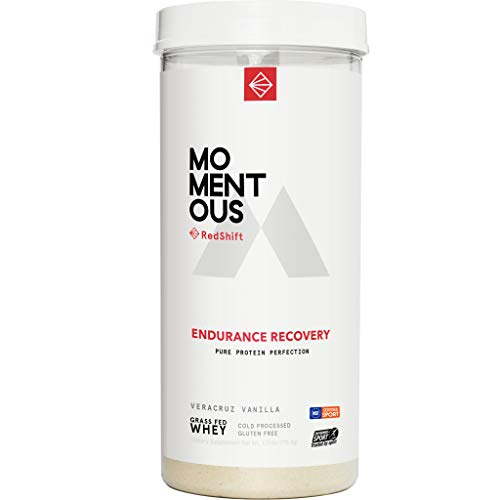 Endurance Recovery Grass-Fed Whey Protein Isolate, Gluten-Free, NSF Certified, Endurance Post-Workout Protein Powder for Men and Women (Vanilla, Jar)