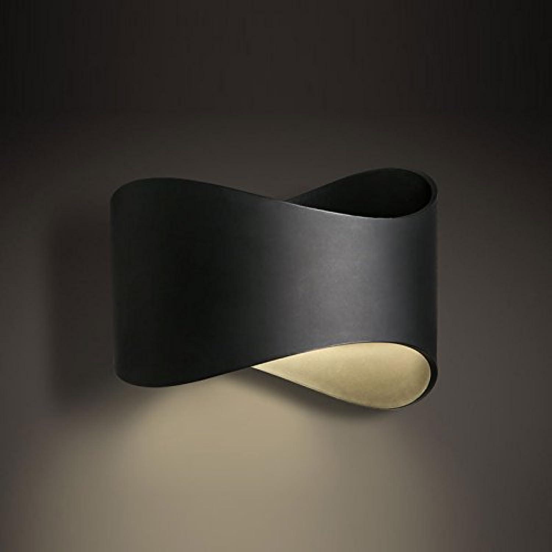 LED geformte Wandlampen Schmiedeeisen ABS Schattierungen Nordic Modern Minimalistic Schlafzimmer Esszimmer Wohnzimmer (Farbe   Schwarz)