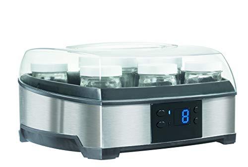 Cuisinart YM400Eet YM350PJE Joghurtbereiter, Edelstahl gebürstet und transparente Töpfe