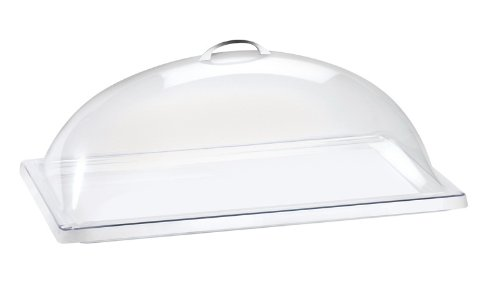 "Cal-Mil 321-12 Classic Dome Cover, 12"" W x 20"" D x 7.5"" H, Clear (Pack of 4)"