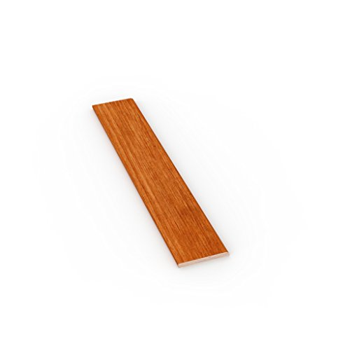 Rodapié moderno de Madera de Tanganika, teñido cerezo mm 70 x 10