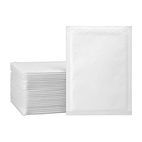 packer PRO Pack 100 sobres acolchados para envios kraft, blanco, pequeño 20 x 27,5 cm