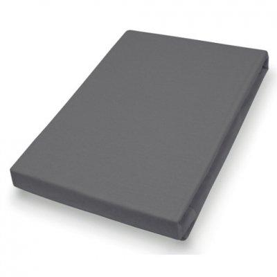 Hahn jersey hoeslaken voor matrasbeschermers & topper 180/200x200/220 cm antraciet