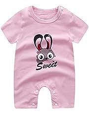 الصيف الطفل بنين بنات تسلق الملابس الوليد الطفل الماركات طفلة رومبير الرضع ازياء منامة (Color : P9, Kid Size : 18M)