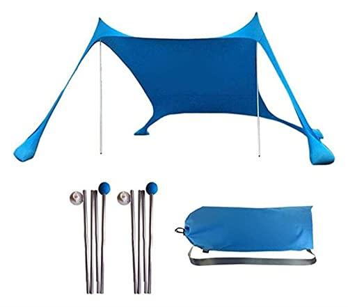GZA Tienda De Playa con Soporte Estabilidad Estabilidad Al Aire Libre Sol Refugio para Viajes De Campamento Pesca Patio Trasero Diversión Picnics (Color : Blue)
