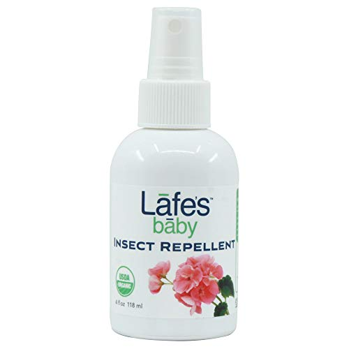 Lafe's Baby Natural Body Care | DEET Free - Organic Baby Insect Repellent | Organic, No Alcohol, Chemical Free & All Natural (4oz)