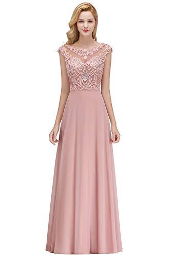 MisShow Damen Ballkleider A Linie Abendkleider Elegant für Hochzeit Abschlusskleider Partykleider...