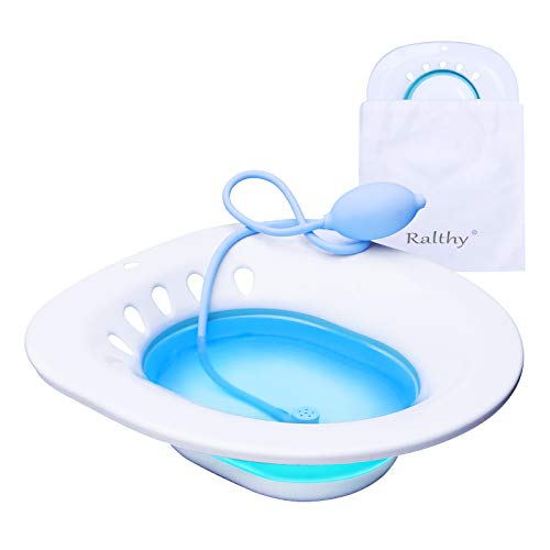 Sitz Bath for Over The Toilet Postpartum Care, Anal Postoperative Care Basin, for Hemorrhoids and Perineum Treatment, Alleviate Vaginal or Anal Inflammation, Foldable Easy to Store