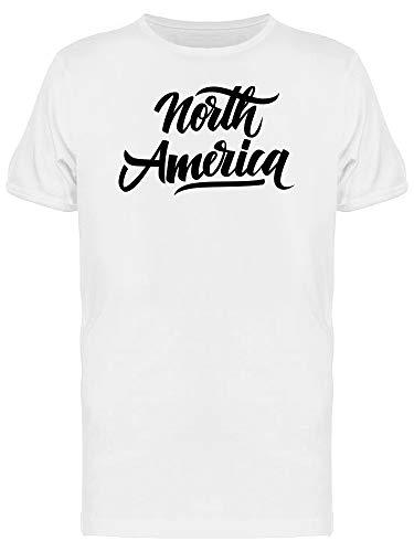 Camiseta masculina com citação Cool Swirl da América do Norte, Branco, M