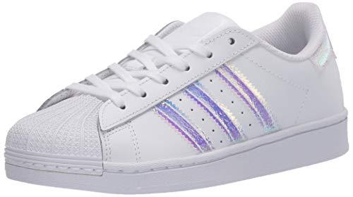 adidas Originals Kids' Superstar Sneaker, Core White/Black/White, 2