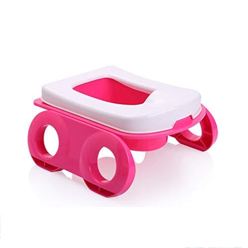 Apprentissage de la propreté Toilette Portable pour Enfants Toilette pour bébé Mâle et Femelle Toilette pour Enfant Urinoir Pot (Couleur : Pink)