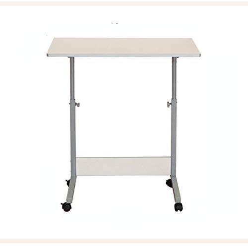 QZH Escritorio móvil extraíble de pie / altura ajustable para computadora de trabajo de presentación, carro, escritorio de aprendizaje, escritorio para estudiantes (80 x 40 cm)