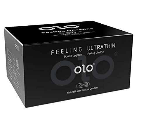 Condón Lubricante Para Adultos Con Ácido Hialurónico Para Hombres, Ultrafino, Látex Natural, Súper Dureza, Paquete De 10, 52 Mm De Ancho