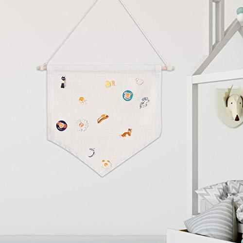 Banners de crachá, suporte de armazenamento de broche, escritório de algodão de poliéster para decoração de casa(primary color, M)