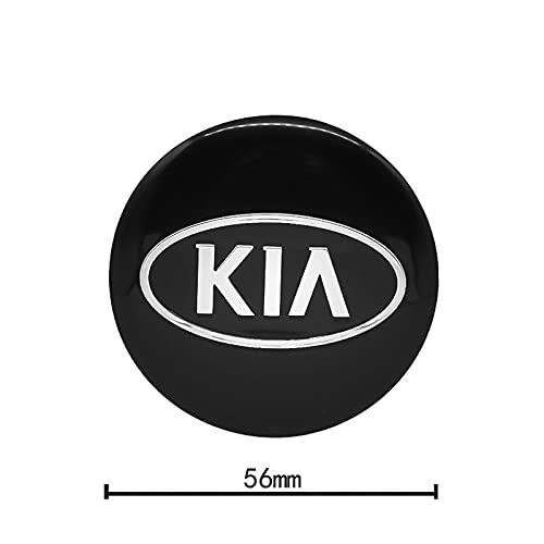 YTRGED 4 unids 56mm coche rueda centro cubo tapas auto emblema cubierta pegatinas para KIA K2 K3 K5 Sorento Sportage Rio Soul Ceed Accesorios