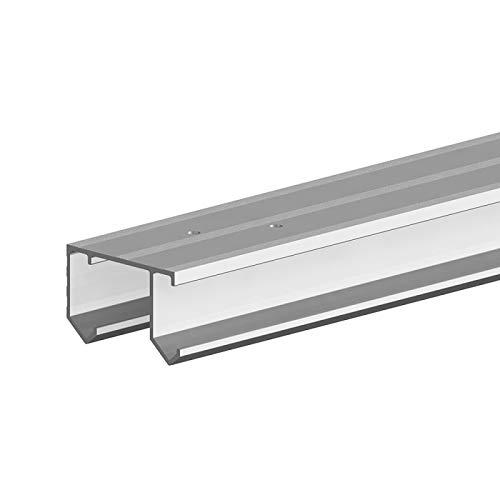 Aluminium-Doppellaufschiene 180 cm zur Ergänzung von SLID'UP 110 Schiebetürbeschlag