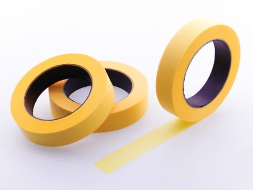 """3pk 1"""" x 60 yd Yellow Painters Tape PROFESSIONAL Grade Delicate Surface Fine Masking Edge Trim Easy Removal (24MM .94 in)"""