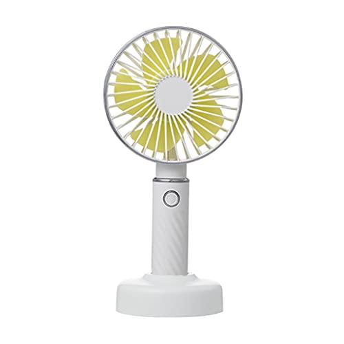 Fenteer Handheld Mini Fan Battery Operated Personal Portable Fan Speed Adjustable USB Rechargeable Fan for Kids Girls Women Men Home Office - White