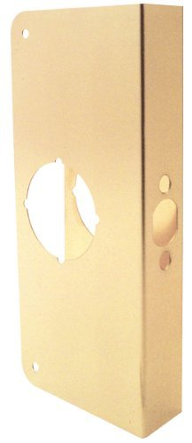 Prime-Line Products U 9556 1-3/4-Inch Thick by 2-3/8-Inch Backset 2-1/8-Inch Bore Door Reinforce, Brass by Prime-Line Products