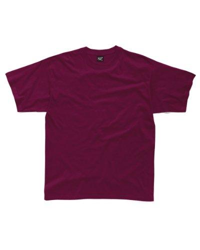 SG Damen T-Shirt, 1 Stück, Small, burgunderfarben,