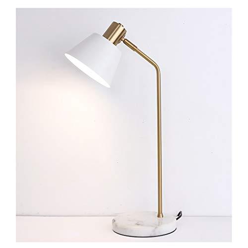 Lámpara de Escritorio Mesita de noche clásica lámpara de lectura lámpara de luz de la noche (mármol Base) es muy adecuado for el dormitorio, estudio, habitación de los niños Flexo de Escritorio