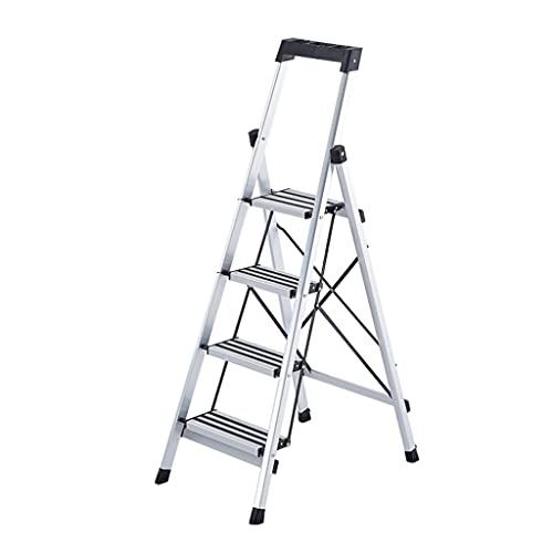 Taburete De Escalera Plegable Moderno De 4 Escalones con Pasamanos De Portaherramientas Superior Y Pedal No Resbaladizo (Color : 1pcs Ladder A)