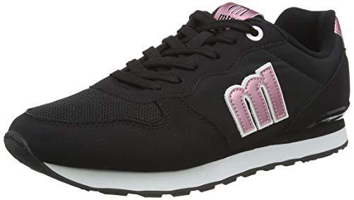 Sneakers Mustang 69705 Joggo Negra y Rosa