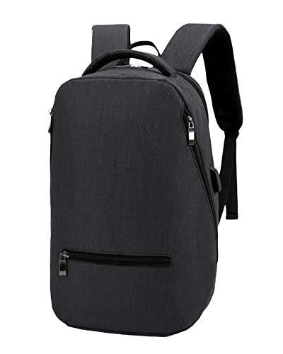 Zaino Unisex Per Computer Portatile Con Porta Usb - Zainetto Per Uomo Ideale Per L'u ficio Ed Il Lavoro Laptop Backpack Nero