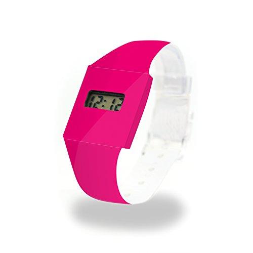 PINK/NEON - Pappwatch - Paperlike Watch - Digitale Armbanduhr im trendigen Design - aus absolut reissfestem und wasserabweisenden Tyvek® - Made in Germany, absolut reißfest und wasserabweisend