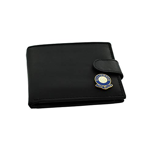 GIFTSEARCH Gillingham FC 'The Gills' Football Club Genuine Black Leather Wallet