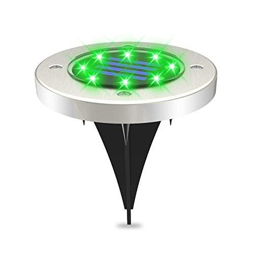 XIHUANNI Luz solar del jardín del LED sensor inteligente, luz impermeable al aire libre del paisaje de la tierra, luz de la noche del piso para el camino del porche