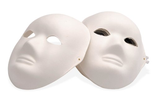 NEU Masken-Set. 10 Vollmasken aus Pappe