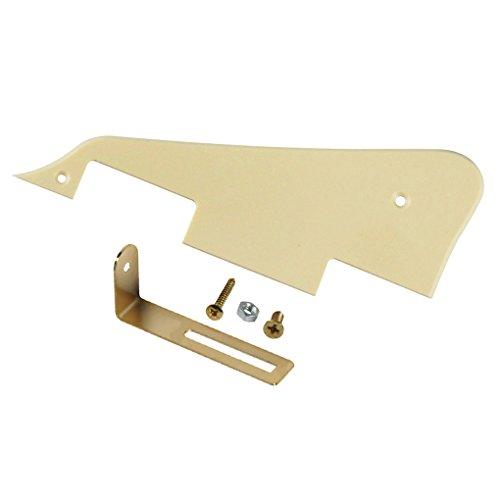 IKN Standard LP Guitar Pickguard Scratch Plate con soporte dorado para Gibson Style o Epiphone Style LP Style Electric Guitar, 1 capa