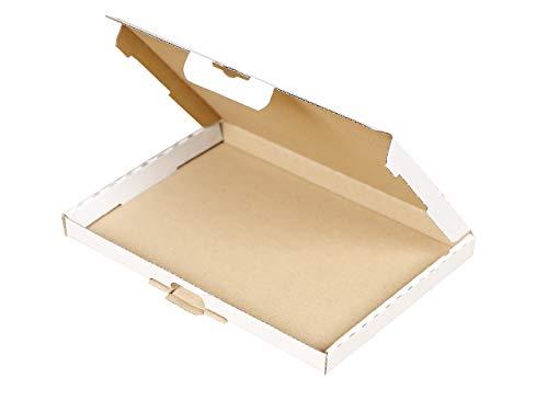 200 Großbrief Kartons 230x160x20 mm | Briefkarton DIN A5 weiß geeignet für Warensendung | wählbar 25-2000 Versandkartons