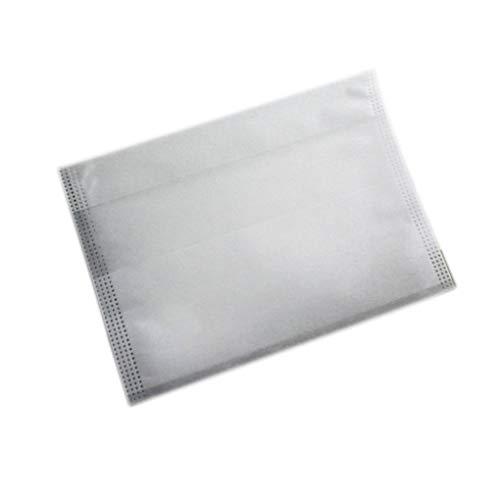 teng hong hui 100 Piezas con cordón Bolsas de té vacía Bolsa de Filtro de Sellado térmico de Fibra de maíz Natural Material Doble Soporte del Filtro del Sellado Caliente Cerrar
