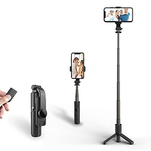 良い物 自撮り棒 Bluetooth アルミニウム合金製 小型 超軽量 ミニ セルカ棒 リモコン操作 ワイヤレス 三脚/一脚 6段伸縮 折りたたみ スマホ 携帯 スタンド コンパクト iPhone/Android/GoPro スマホ等対応