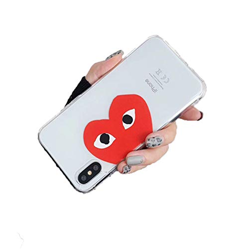 Commes Des Garcons CDG Play Japan Case for iPhone Transparent Soft 1 for iPhone Xs