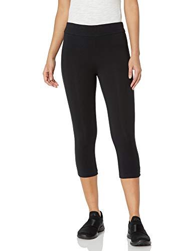 Spalding Women's Plus SizeWomen's Capri Legging Essential, Black, 2X