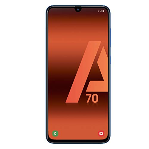 "Samsung Galaxy A70 (128gb, Dual-SIM, pantalla de 6.7 "" Full HD + Dynamic AMOLED, 4500 MaH), color azul [Versión española]"
