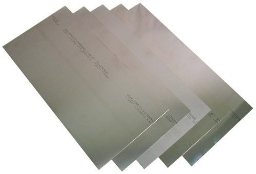 302 Stainless Steel Sheet, Unpolished (Mill) Finish, Full Hard Temper, 0.001-0.020' Thickness, 6' Width, 12' Length (Pack of 8)