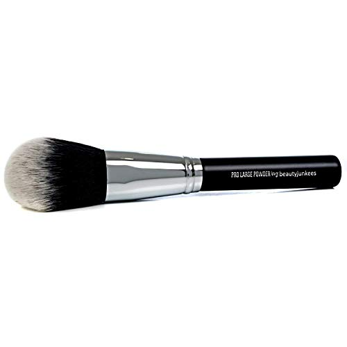 Large Finishing Powder Makeup Brush - Big Fluffy Domed Powder Make Up Brushes for Full Face, Body Bronzer Contouring, Loose, Mineral, Compact, Translucent Powders, Soft Synthetic Vegan Cruelty Free