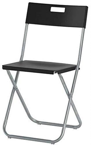 XDHN IKEA GUNDE Klappstuhl, Schwarz 1
