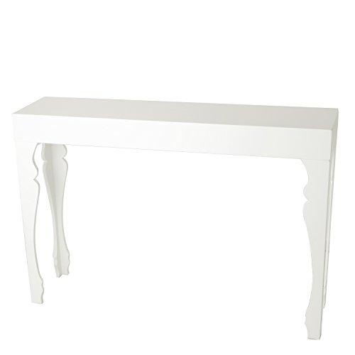 Brandani 57534 Consolle in MDF laccato, Bianco, 110 x 27 x 75 cm