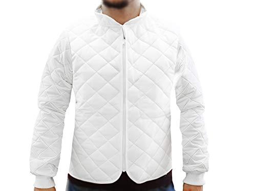 Dagema Thermoluxjacke weiß Modell 'Timmins' Thermo Jacke Arbeitsjacke mit Kragen, GRÖSSE:XXXXL