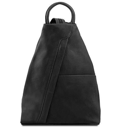 Tuscany Leather Shanghai Mochila en Piel Negro