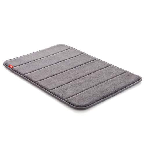 TATAY 5513002 - Nuvola Alfombra de baño Suave, Acolchada, absorvente y de Secado rápido, Gris, 40x3x60 cm