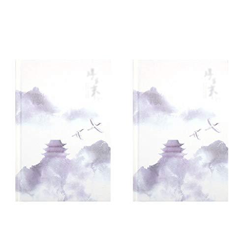 SFF A5 Cuaderno de Estilo Chino Tapa Dura for el Registro en el Diario de Escritura Toma de Notas Diario y Planificador (Color : 2)